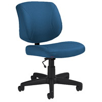 Offices To Go Yoho Low-Back Armless Task Chair, Admiral Blue, Jenny Fabric
