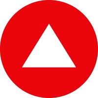 Autocollants pour tapis de distanciation sociale Sterling, anglais, flèche blanche sur fond rouge, 12po