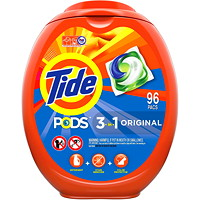 Tide PODS Laundry Detergent, Original Scent, 96 Count/Loads