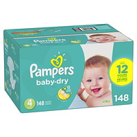 PAMPERS BABY DRY SIZE 4 148/BX