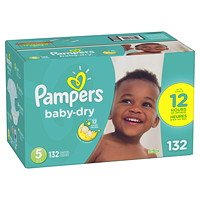 Pampers Baby-Dry Disposable Baby Diapers, Size 5, 132/CS