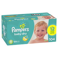 PAMPERS BABY DRY SIZE 6 104/BX