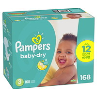 PAMPERS BABY DRY SIZE 3 168/BX