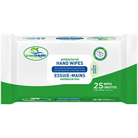 Green Dolphin Antibacterial Hand Sanitizing Wipes, 75% Ethyl Alcohol Content, 25/PK