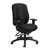 Offices To Go Overtime High-Back Multi-Tilter Ergonomic Chair, Black Quilt Fabric