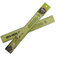 Onyx + Green Wheat Straw Ruler, 12