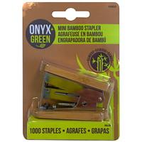 Onyx+ Green Bamboo Mini Stapler