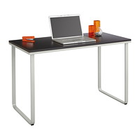 Safco Table Desk, Black Top with Silver Base, 47 1/4
