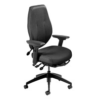 ergoCentric airCentric 2 Multi-Tilt Ergonomic Task Chair, Airflow Back, Black Fabric Seat/Back