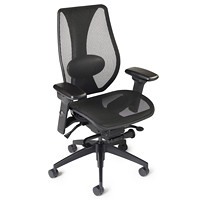 ergoCentric tCentric Hybrid Synchro Glide Ergonomic Office Chair, Black Mesh Seat/Back
