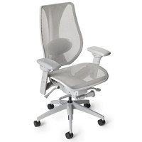 ergoCentric tCentric Hybrid Synchro Glide Ergonomic Office Chair, Light Grey Mesh Seat/Back