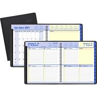 Agenda hebdomadaire/mensuel QuickNotes At-A-Glance, 8po x 97/8po, noir, 12 mois (janvier 2021 à décembre 2021), bilingue