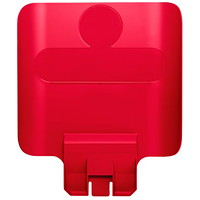 Rubbermaid Commercial Slim Jim Recycling Station Billboard, Red