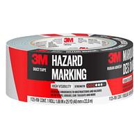 3M Hazard Marking Duct Tape, Red/White, 48 mm x 22.8 m