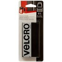 Velcro Industrial-Strength Tape Fastener Strips, Black