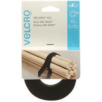 Velcro One-Wrap Roll, Black, 3/4