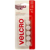 Velcro Sticky Back Circles, White, 5/8
