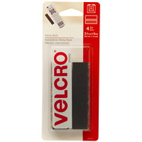 Velcro Sticky Back General Purpose Strips, Black, 3/4