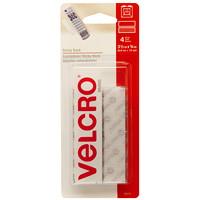 Velcro Sticky Back General Purpose Strips, White, 3/4