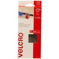 Velcro Sticky Back Fastener Tape Roll, Black, 3/4