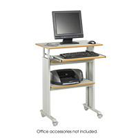Safco Muv Stand-Up Height-Adjustable Workstation, Grey, 29 1/2