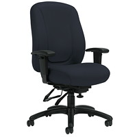 Offices To Go Overtime High-Back Multi-Tilter Ergonomic Chair, Charcoal Grey Jenny Fabric