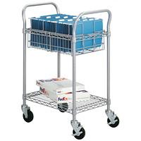 Chariot pour courrier métallique Safco, moyen, 24po
