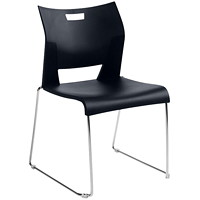 Global Duet Armless Stacking Chair, Night