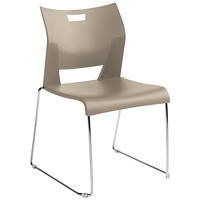 Global Duet Armless Stacking Chair, Latte Beige