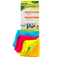 Kodiak Microfibre All-Purpose Cloths, Assorted Colours, 13 7/10