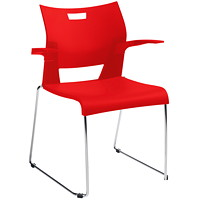 Global Duet Stacking Armchair, Scarlet Red
