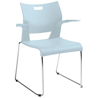 Global Duet Stacking Armchair, Frost