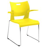 Global Duet Stacking Armchair, Dijon Yellow