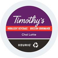 Timothy's Single-Serve Tea K-Cup Pods, Chai Latte, 24/BX
