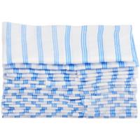 Chiffons en microfibre jetables HYGEN Rubbermaid Commercial, blanc et bleu, 12po x 12po, emb. de 60