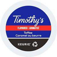 Dosettes K-Cup de café Timothy's, Caramel au beurre, boîte de 24