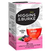 Higgins & Burke Herbal Tea, Berry Vines, 20/BX