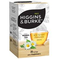 Higgins & Burke Herbal Tea, Wild Harvest Chamomile, 20/BX