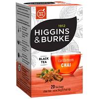 Higgins & Burke Black Tea, Cardamom Chai, 20/BX