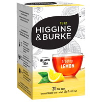 Higgins & Burke Black Tea, Treetop Lemon, 20/BX