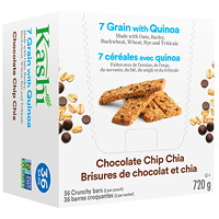 Kashi 7 Grain with Quinoa Snack Bars, Chocolate Chip Chia, 40 g, 18/BX