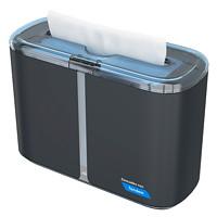 Cascades PRO Tandem Multifold Hand Towel Countertop Dispenser, Dark Grey