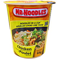 Mr. Noodles Instant Noodles in a Cup, Chicken Flavour, 64 g, 12/CT
