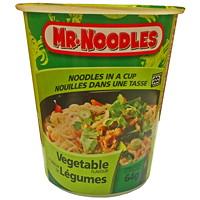 Nouilles instantanées dans une tasse Mr. Noodles, légumes, 64 g, caisse de 12