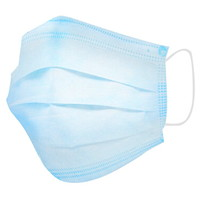 Winnable 3-Ply Disposable Level 1 Procedure Masks, Blue, Adult Size, 50/BX