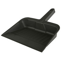 Globe Commercial Products Plastic Dust Pan, Black, 12