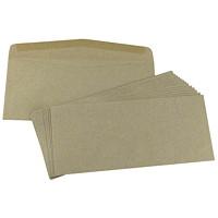 SupremeX Heavy Mailing Envelopes, Open Side, #10, Natural Kraft, 4 1/8