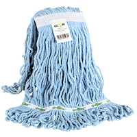 Globe Commercial Products Synthetic Looped End Wet Mop Head With Narrow Band, 12 oz
