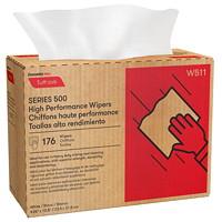 Boîte distributrice de chiffons Tuff-Job à haut rendement Cascades PRO, série 500, 1 épaisseur, plis multiples, blanc, 176 feuilles