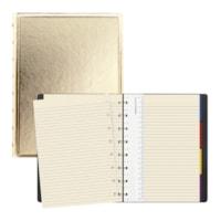 Filofax Saffiano Metallic Gold A5 Notebook